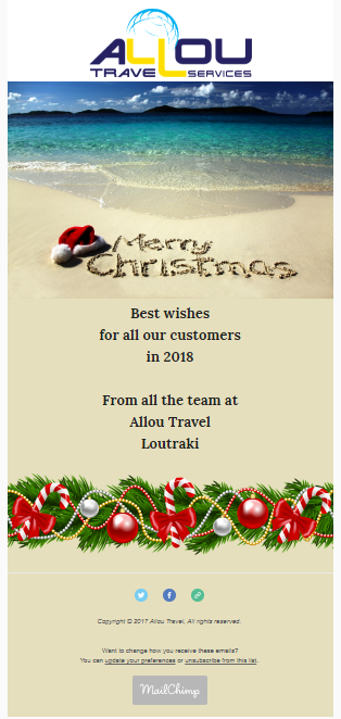 Christmas Newsletters for Allou travel