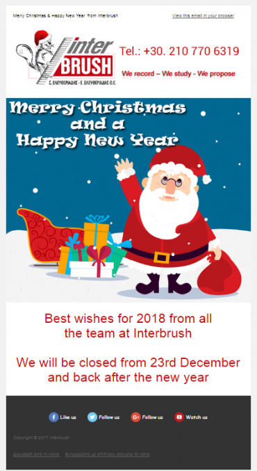 Christmas Newsletters for Interbrush